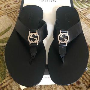 a6da6998875b NIB 100% Authentic Gucci Flip Flop Sandals Mens 8